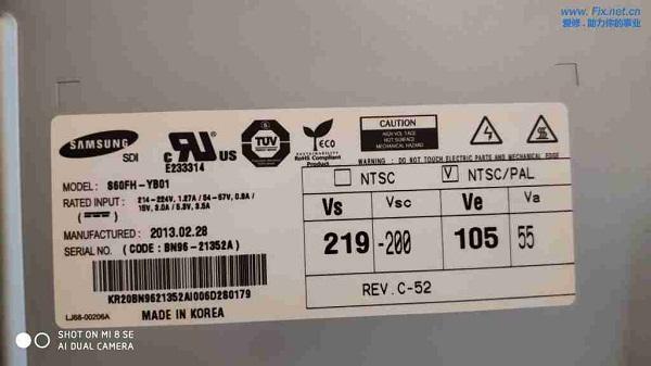 三星PS60E8000GJ电视黑屏有声音没图像故障维修案例2