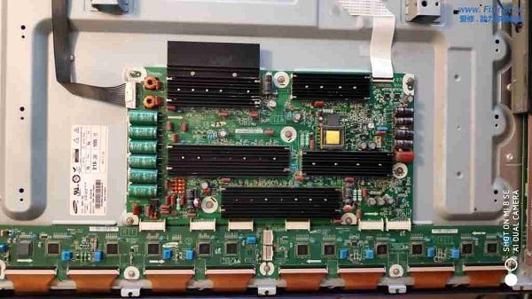 三星PS60E8000GJ电视黑屏有声音没图像故障维修案例4