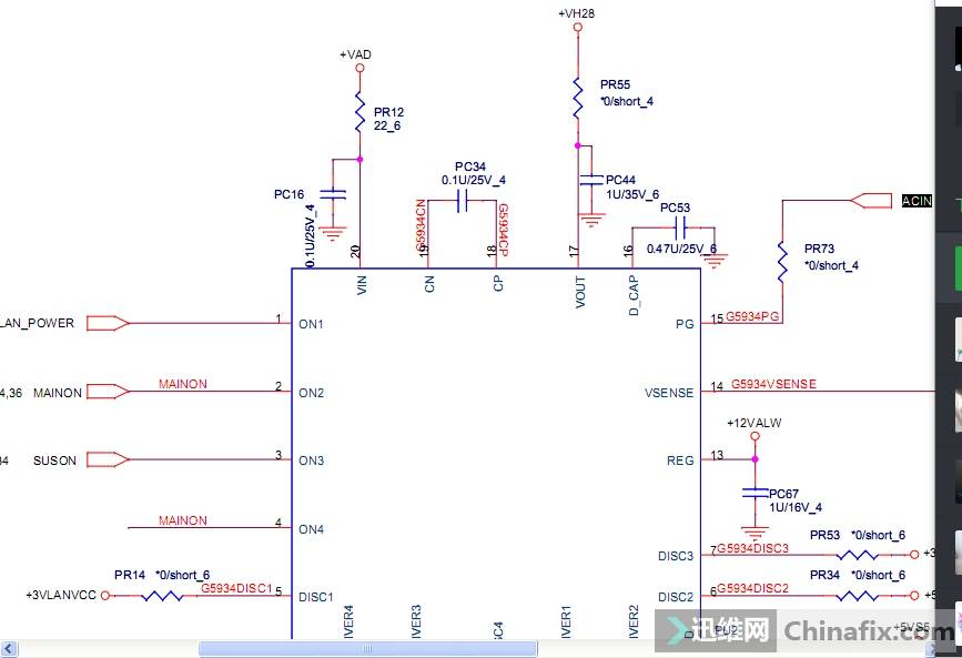PU2工作条件20脚主供电,14脚2.2v  13脚输出12V,以上电压正常17脚输出28v.测试发现13脚没电压,一测对地了 ...