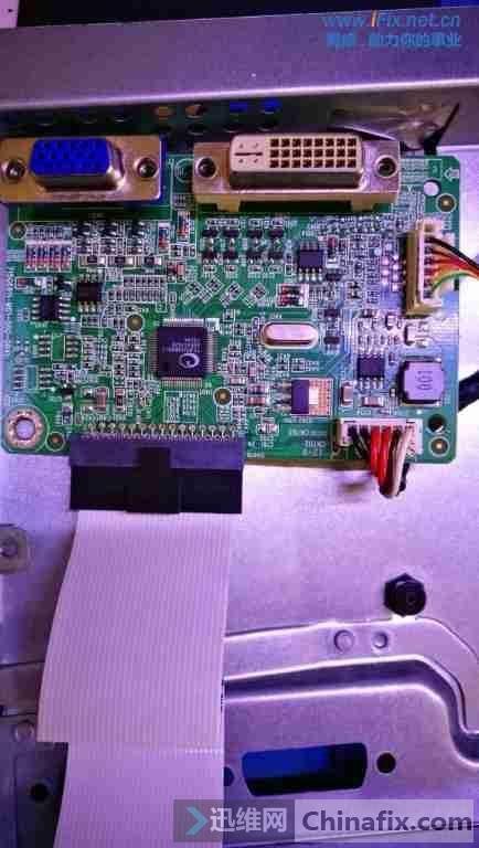 联想LS2233WA液晶显示器白屏故障维修案例5