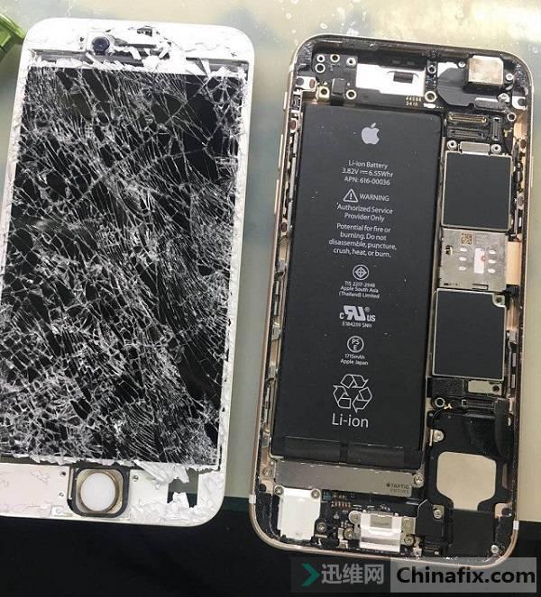 iPhone6s重摔后手机不开机故障维修案例