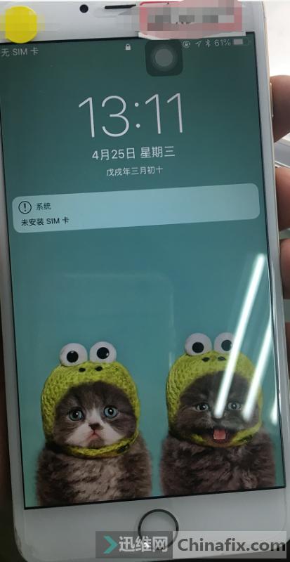 iPhone6s Plus手机进水不显示故障维修案例