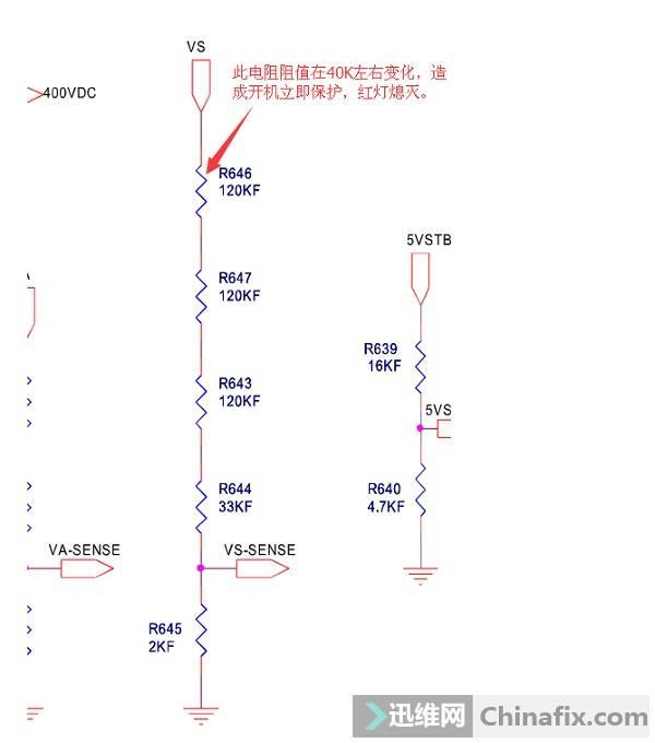 长虹CH50890PT3D等离子电视红灯亮不开机故障维修案例