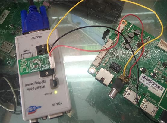 海尔开机画面卡LOGO (6A638机芯板)曲折故障维修案例4