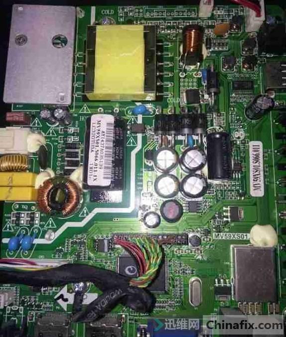 飞线维修熊猫LE32D51A液晶电视灰屏故障维修一例2