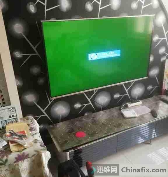 海信LED55K370液晶电视开机后无图像故障维修1