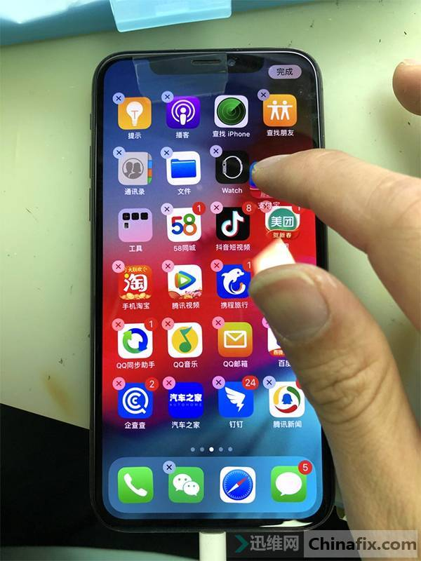 iPhone X手机重摔不触摸故障维修 图3