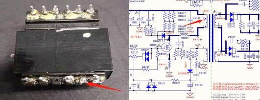 TCL D32A810液晶电视不开机故障维修一例