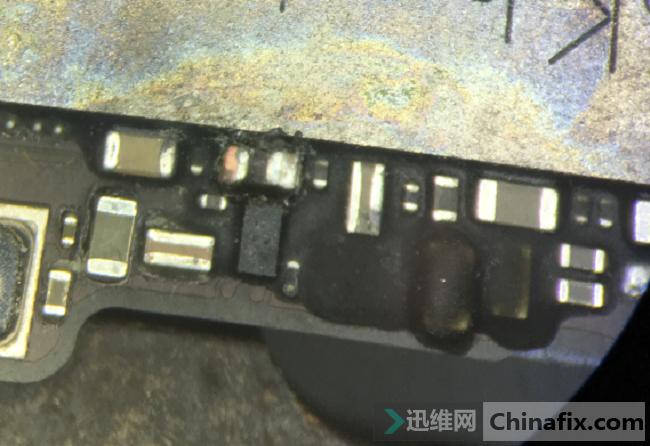 iPhone6手机无法开机,触发大电流故障维修 图4