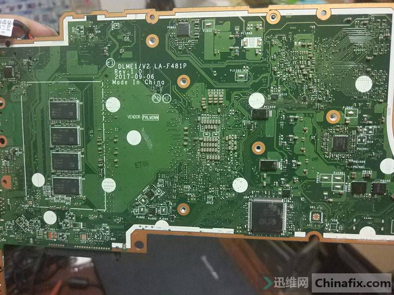 接了台联想V330 14IKB 维修带CPU供电的波波 迅维网维修论坛