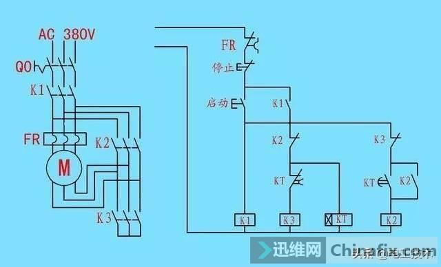 时间继电器怎么看图接线?这可是星三角接触器接线必备元件-6.jpg