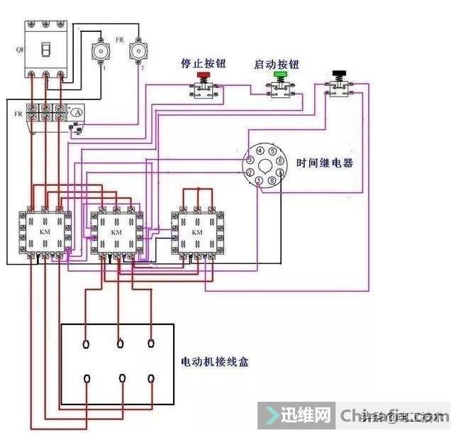 时间继电器怎么看图接线?这可是星三角接触器接线必备元件-7.jpg