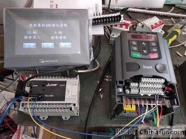 老电工实例讲解三菱PLC如何通过RS485控制变频器,太实用了-1.jpg