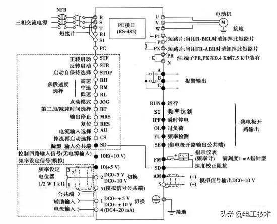 变频器接线,变频器主电路怎么接线?接线端子各有什么功能?-1.jpg