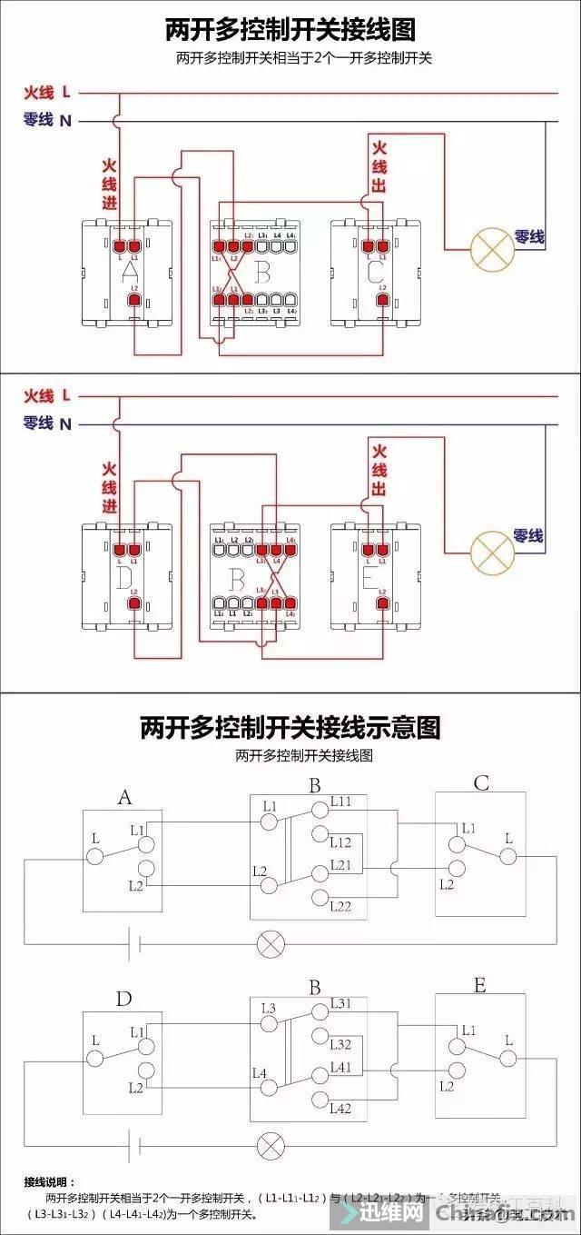 所有开关 电机 断路器 电热偶 电表接线图大全!非常值得收藏-12.jpg