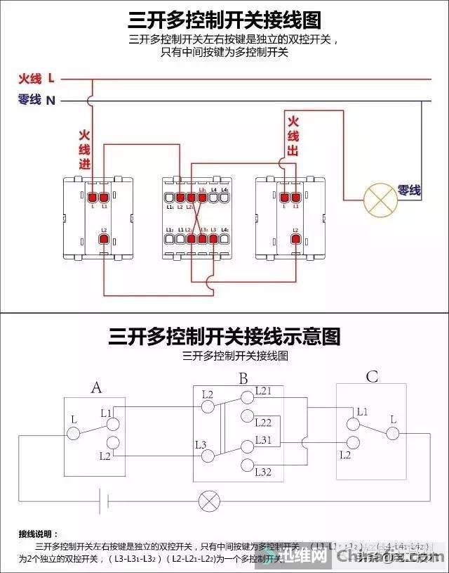 所有开关 电机 断路器 电热偶 电表接线图大全!非常值得收藏-13.jpg