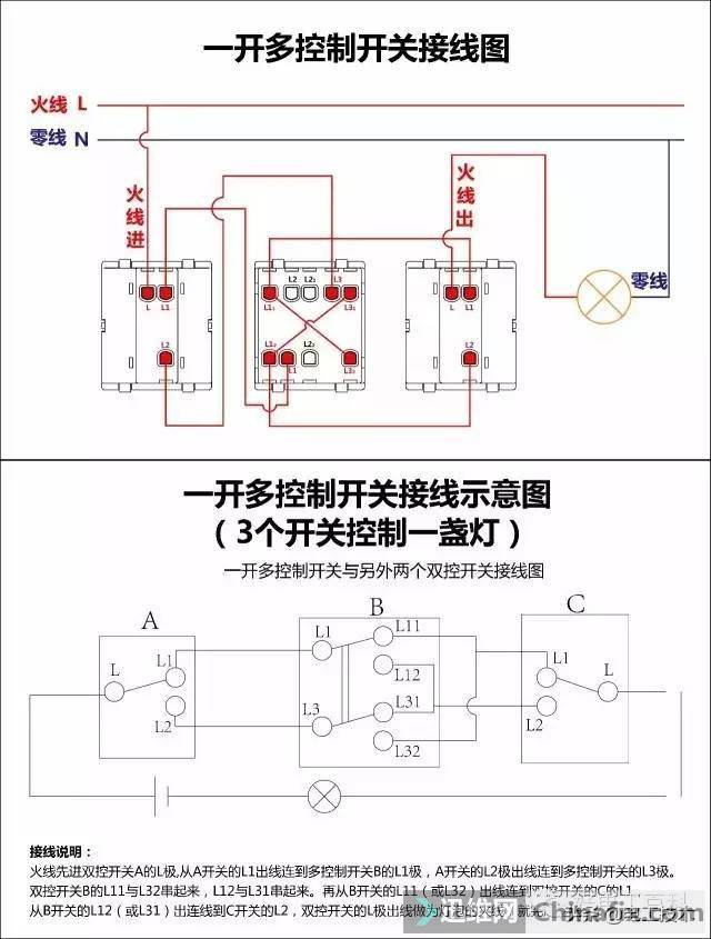 所有开关 电机 断路器 电热偶 电表接线图大全!非常值得收藏-11.jpg