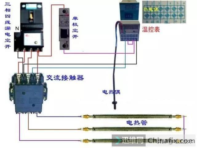 所有开关 电机 断路器 电热偶 电表接线图大全!非常值得收藏-38.jpg