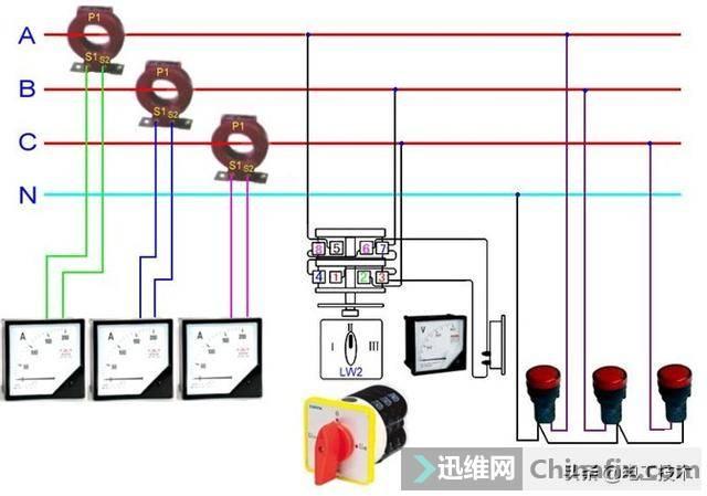 所有开关 电机 断路器 电热偶 电表接线图大全!非常值得收藏-48.jpg