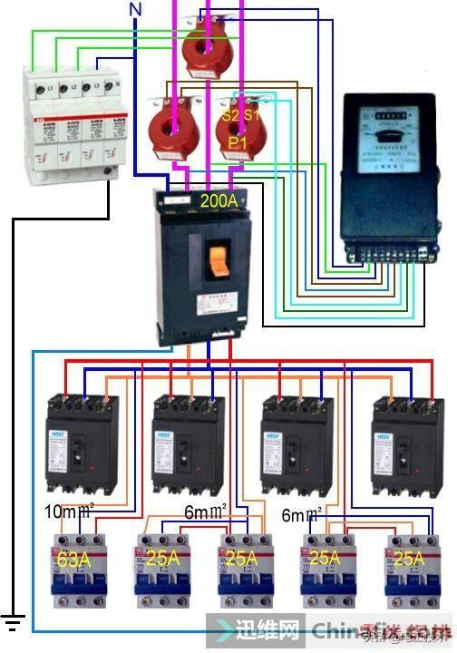 所有开关 电机 断路器 电热偶 电表接线图大全!非常值得收藏-61.jpg
