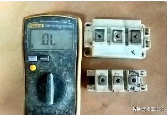 如何用万用表测量IGBT模块好坏?17年变频器维修老师傅告诉你-1.jpg