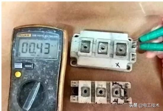如何用万用表测量IGBT模块好坏?17年变频器维修老师傅告诉你-6.jpg