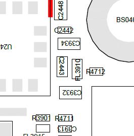 FL3910的1.8V电压时有时无,旁边C3934有1.8V可以借用不