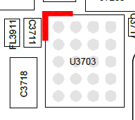 FL3911没有5.1V触摸电压,u3703换过,3911和3703没断线