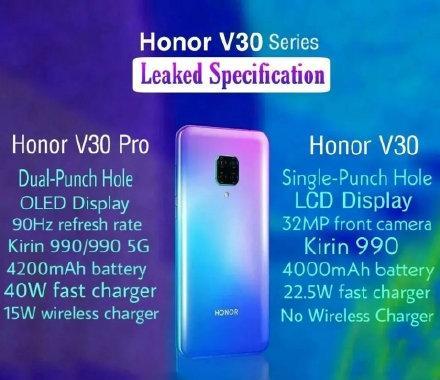 荣耀V30系列曝光双模5G+90Hz屏幕+麒麟990小米太难了