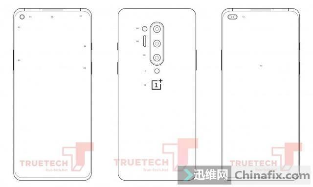 OnePlus8/Pro官方PDF图曝光:前置单/双打孔摄像头