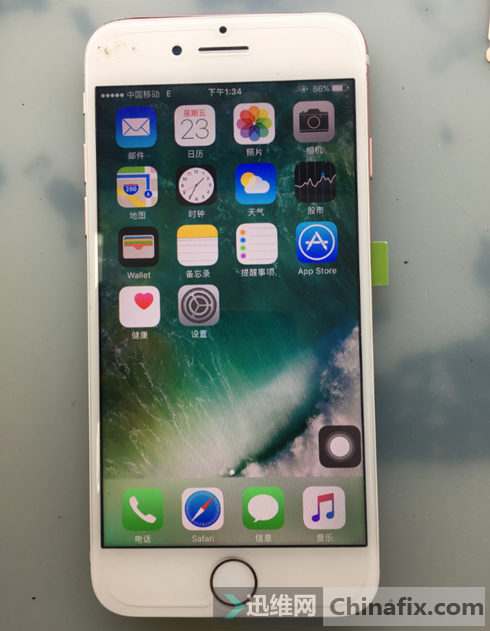 iPhone 7手机进水插卡无4G信号故障维修