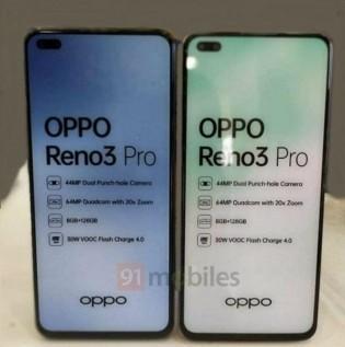 OPPOReno3Pro印度版参数曝光打孔屏依旧