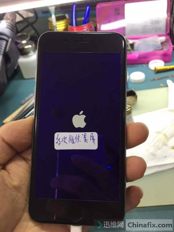 二修iPhone6S手机黑屏不显示故障维修