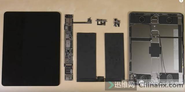 苹果iPadPro2020拆解,Lidar真身首次曝光