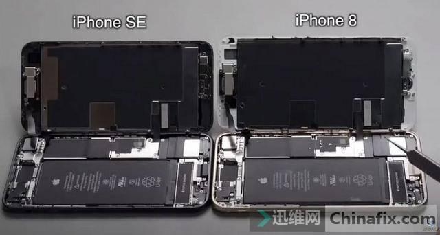 iPhoneSE第二代拆解總結:屏幕等大部分元件和iPhone8通用