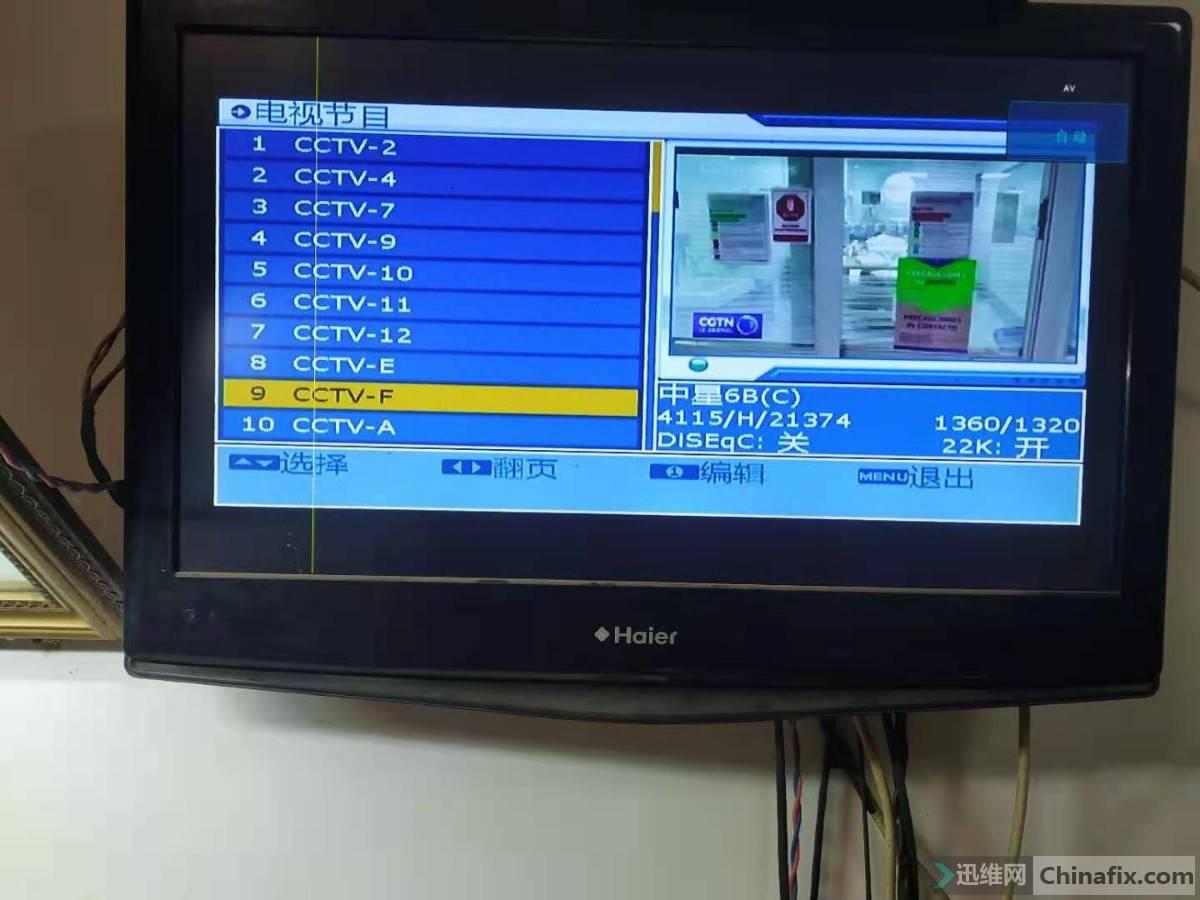 正常显示的电视