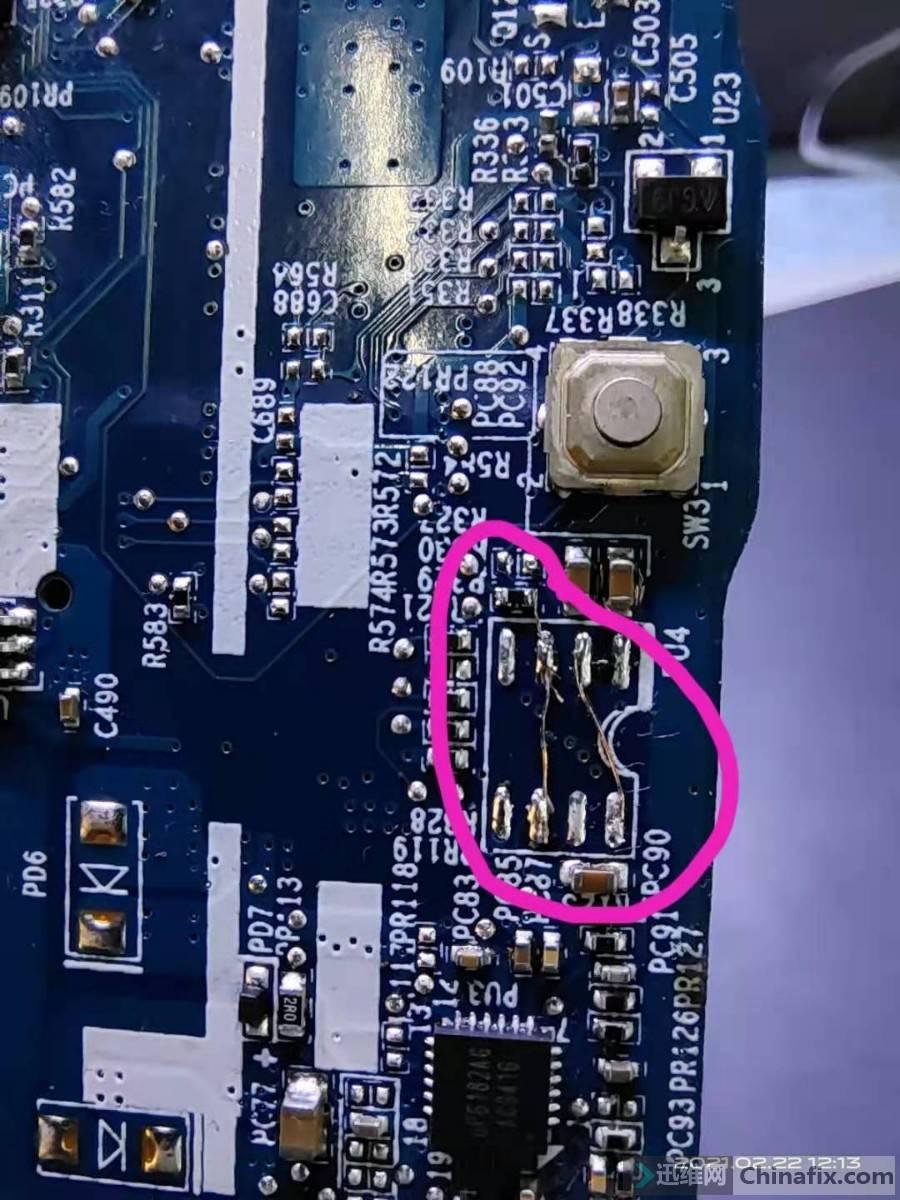 PU4原芯片取下直连3,6脚直连2,8脚,还有3脚的电阻要短接或者像我一样直连