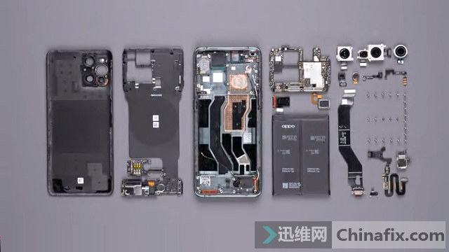 OPPO Find X3 PRO拆解全家福