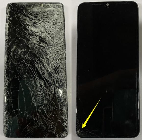 屏幕摔坏 图1
