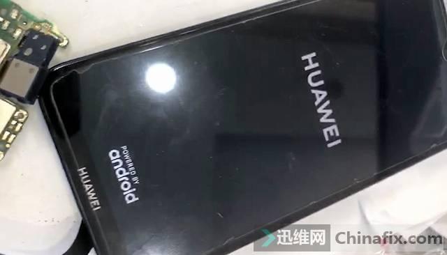 华为畅享9手机无背光故障维修 图3