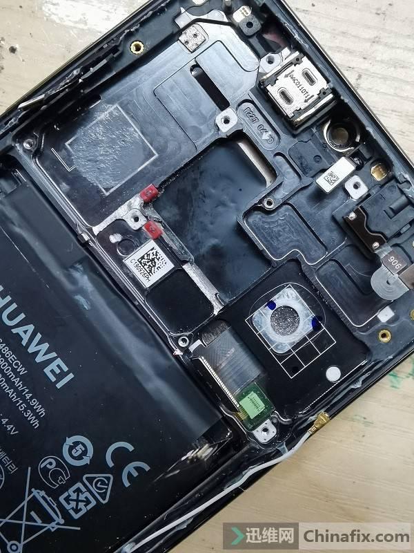 重摔华为Mate20手机不充电多故障维修 图11