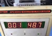 安泰信APS3005S电压48/90V换电位器无效,无法调节电压维修