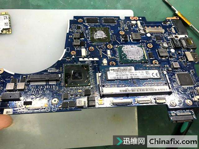 二修联想ThinkPad笔记本电脑,小元件引起开机不进系统